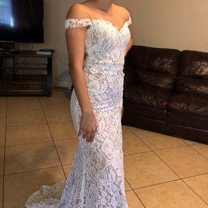 White Lace Prom Dress